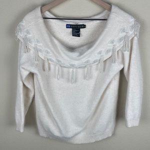 I.B. DIFFUSION Vntg White Off Shoulder Sweater M